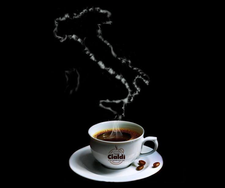 """Cialdì segue la lunga tradizione italiana del vero #caffè espresso.   ... Per poter gustare in tazzina un """"pò di stivale"""""""