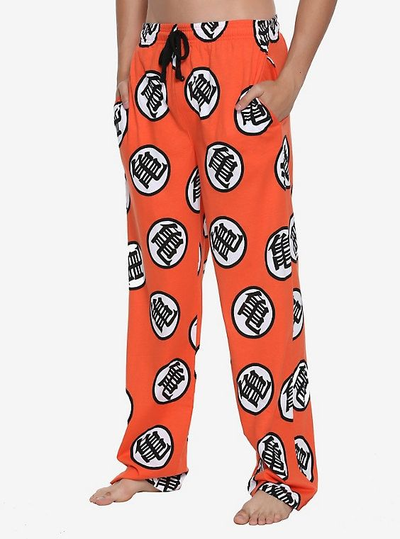 dd9f379cb9 Dragon Ball Z Goku Symbol Guys Pajama Pants