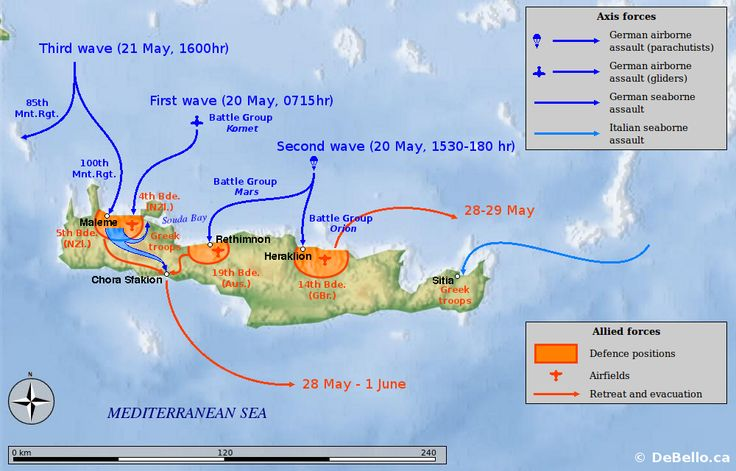 Operation Mercury, The Battle of Crete , May,1941. Up until that time, largest airborne operation in history.