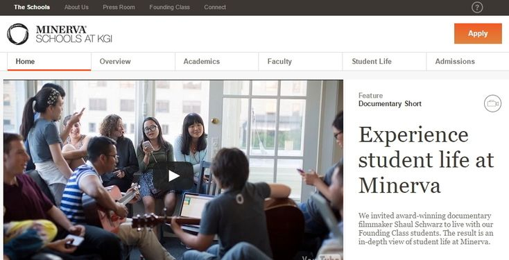 """Minerva Schools at KGI  - Experiential in context learning - """"7 cities, 7 different worlds"""" - Interesting how they present the fields of study [https://www.minerva.kgi.edu/academics/majors-courses/]"""