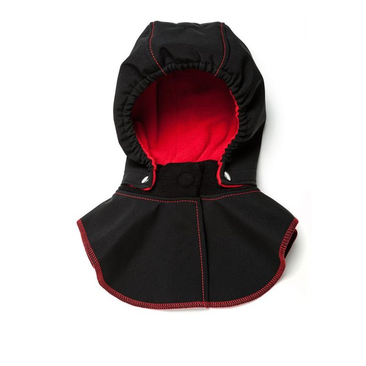 Baby Hood & Neck Warmer - Black-red