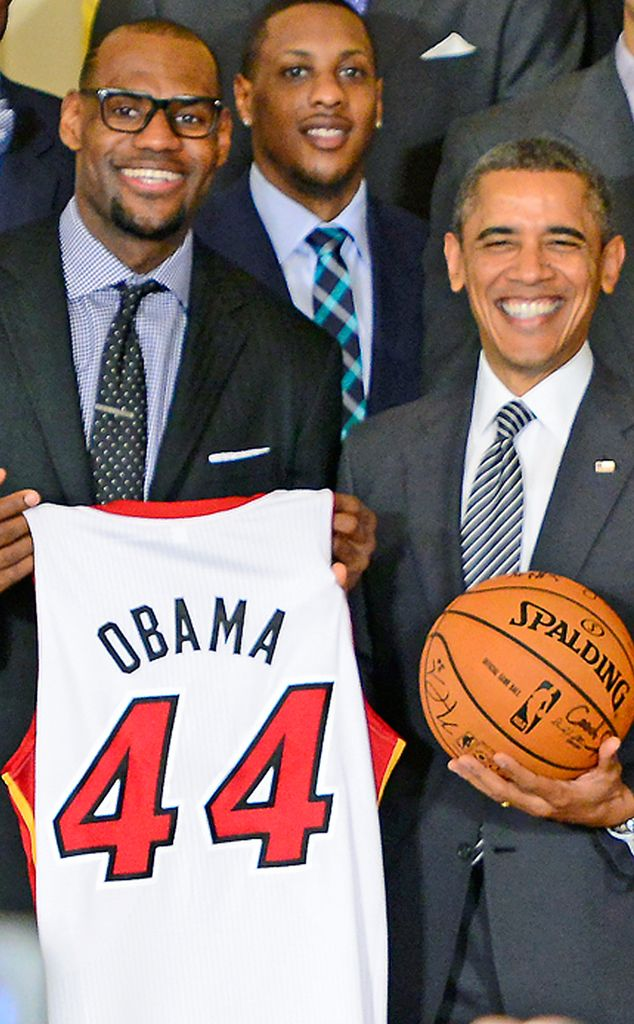 """LeBron James made the moment of meeting President Barack Obama memorable when giving his mom a shout out, declaring: """"Hey Mama, I made it!"""""""