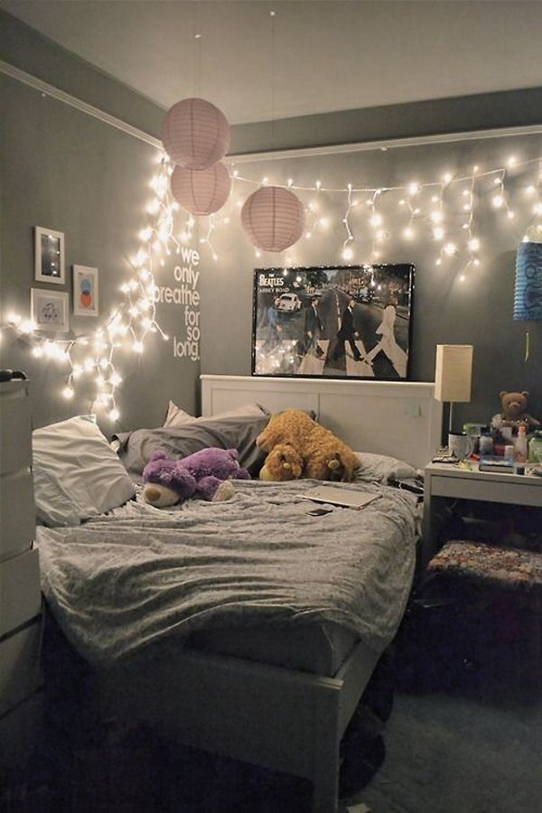 Best Bedroom Fairy Lights Ideas On Pinterest Room Lights - Pretty fairy lights bedroom