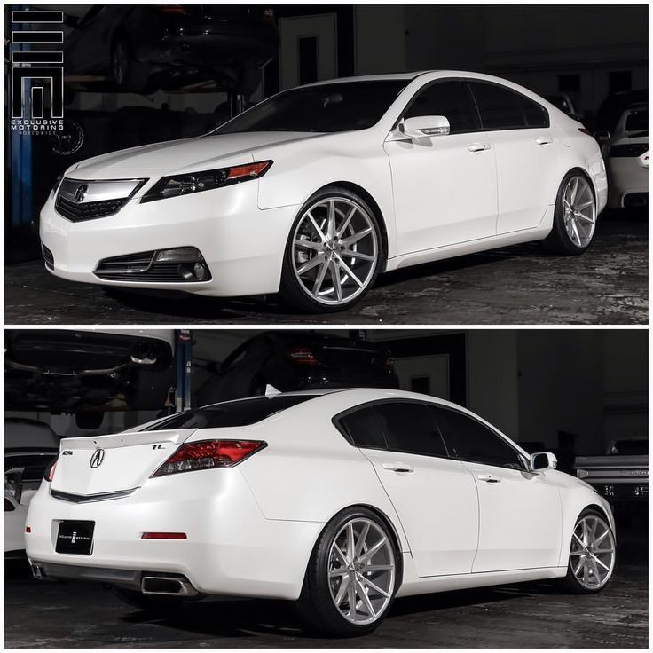 Acura TL Lowered On 20 Inch Vossen VFS1 Wheels