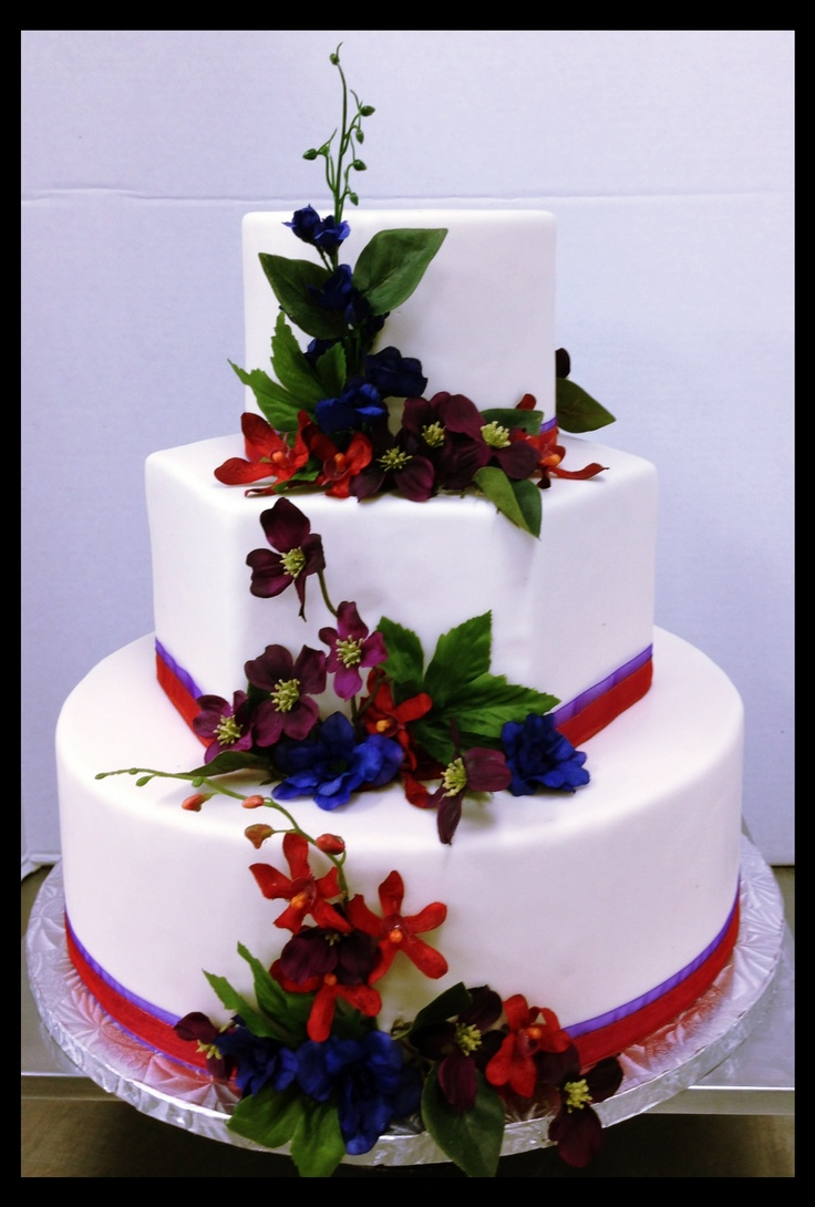 Jewel tone wedding cake but rather have blue or green - Jewel cake decorations ...