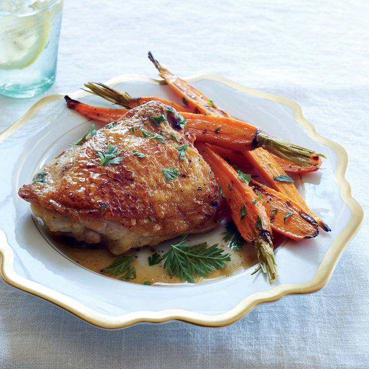 Meltingly Tender Chicken with Miso, Ginger, and Carrots - 5-Ingredient Summer Recipes - Cooking Light