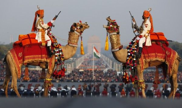 India's Border Security Force #India #Camel #IndianForces