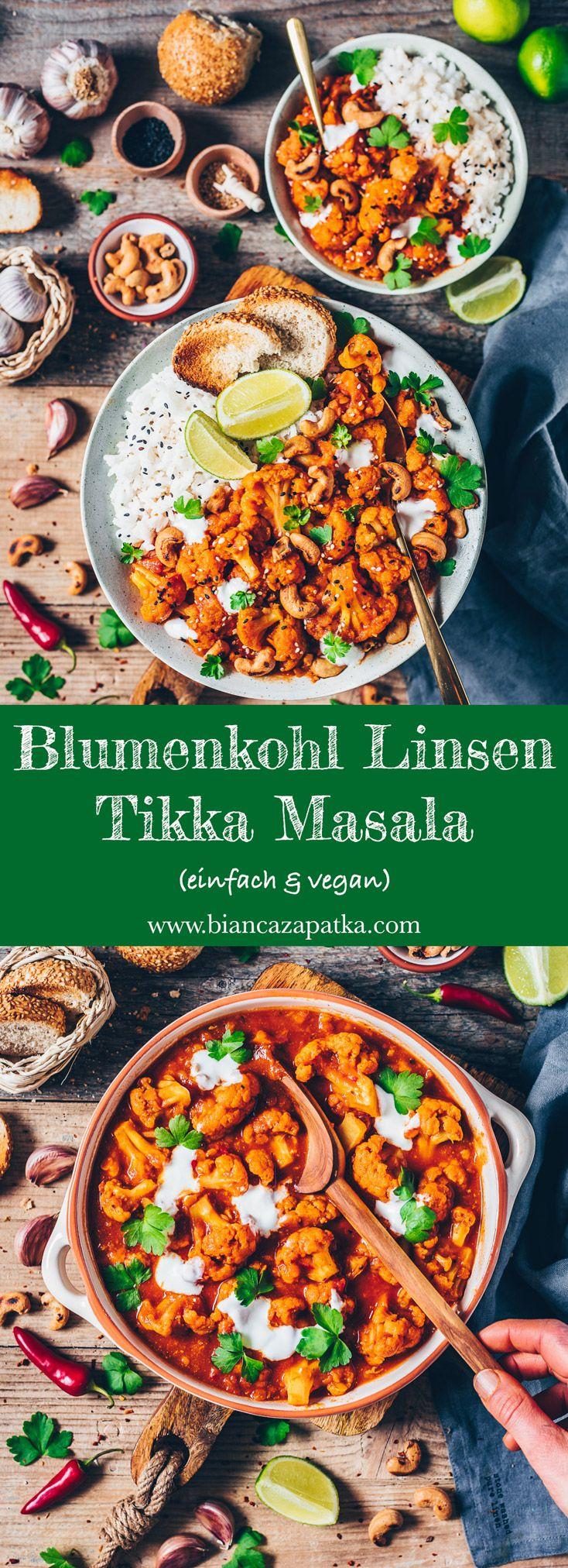 Blumenkohl Tikka Masala Curry (einfach & vegan)