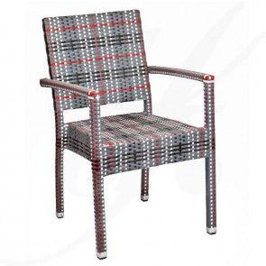 MEZZA Freestyle, cu brate - scaun terasa ratan sintetic | TRENDfurniture Collection