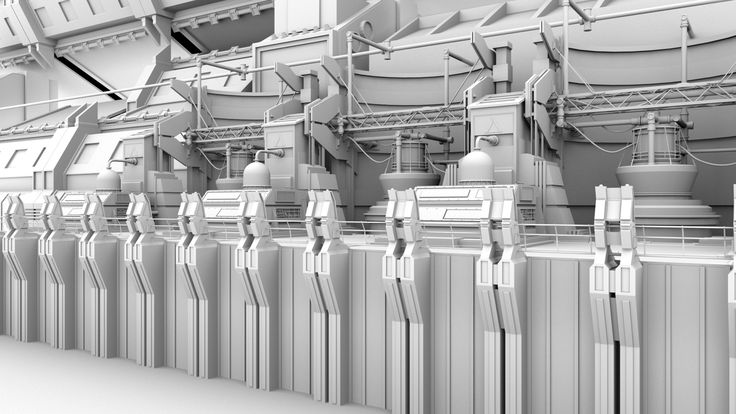 """Ambient Occlusion render of """"Silo 12."""" For more information visit www.paulchambers3D.com"""