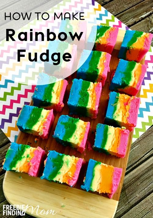 Want a dessert recipe that is guaranteed to put a smile on your face? This step-by-step tutorial shows you how easy it is to make rainbow fudge. This white chocolate based fudge recipe is perfect for a rainbow party or just to brighten someone's day.
