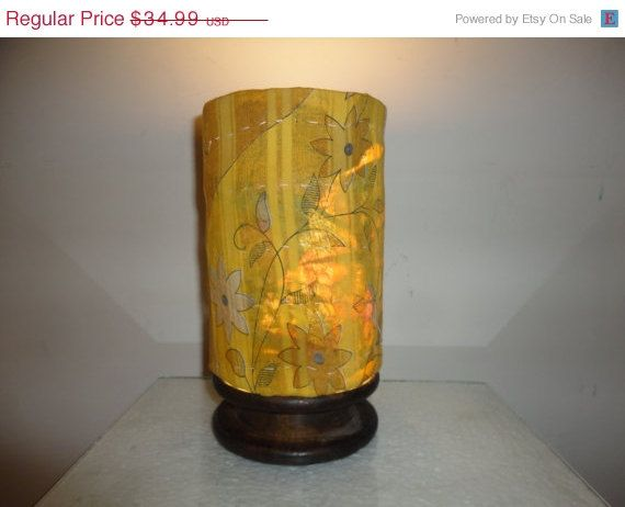 Recycled Handmade Table Lamp in Vintage Decor by MatureSourcing, $30.09