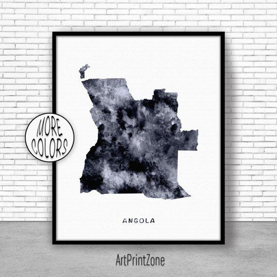 $8.00 Angola Print, Watercolor Map, Angola Map Print, Office Wall Decor, Office Wall Art, Living Room Art, Map Decor, Map Wall Art Print Zone #OfficeWallDecor #LivingRoomArt #ArtPrintZone #MapDecor #AngolaPrint #ArtPrint #WatercolorMap #ArtPrintZone #OfficeWallArt #MapWallArt