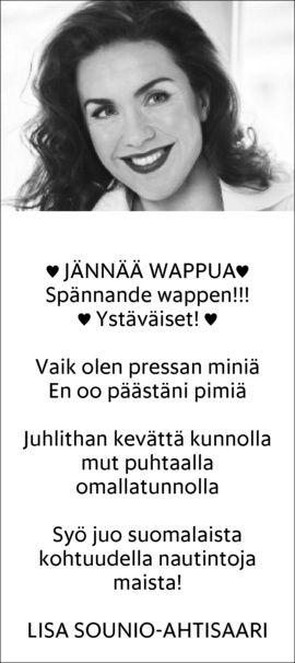 Lisa Sounio-Ahtisaari runoilee