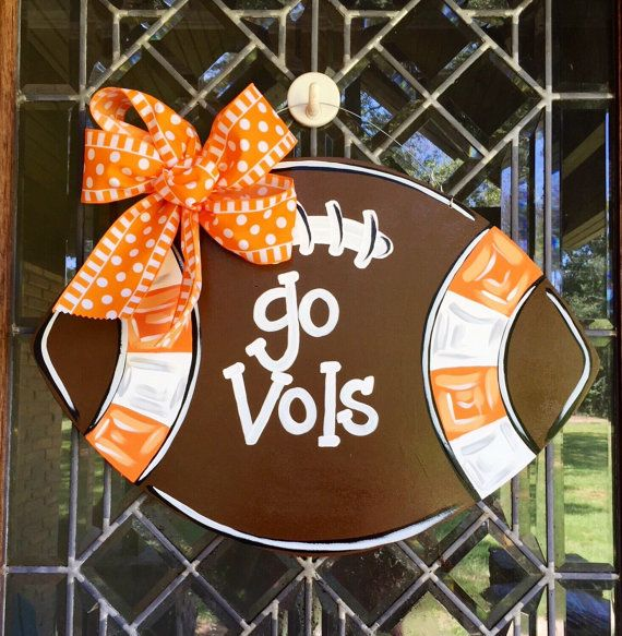 University of Tennessee football Go Vols football by aWhitofWhimsy
