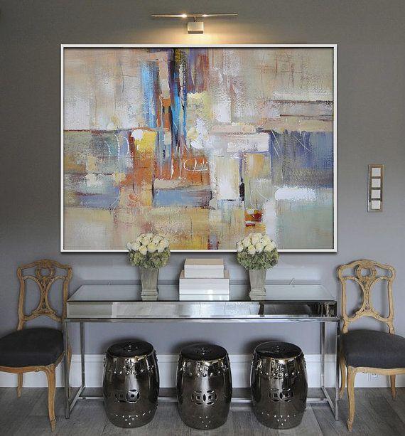 Gran pintura hecha a mano Arte Original gran por CelineZiangArt