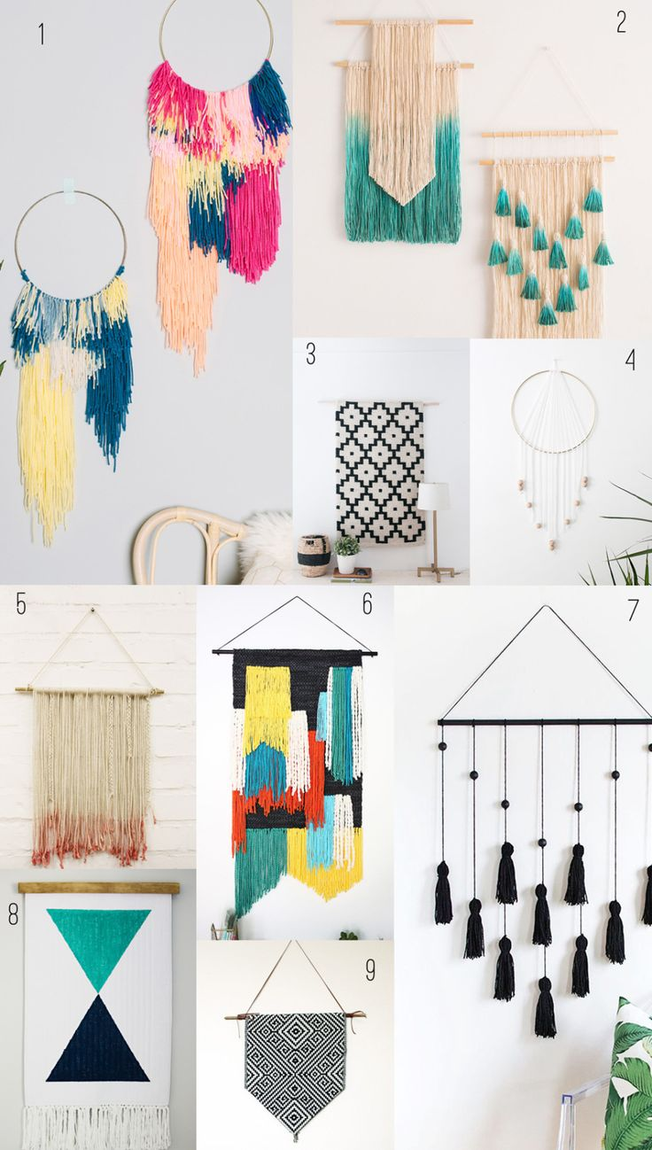 9 awesome DIY wall hangings