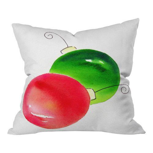 Holiday Pillows at Wayfair - Laura Trevey Deck The Halls Throw Pillow