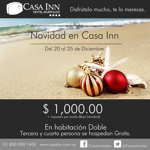 Hotel Casa Inn Acapulco. Oferta de Navidad.