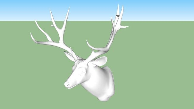 KARE 31066 Deco Head Deer White ( Deko Kopf Deer White ) - 3D Warehouse