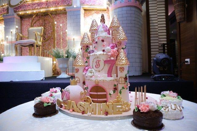 Jasmin S Enchanting Royal Ball Cake Princess Theme Party Lovely Invitation 7th Birthday