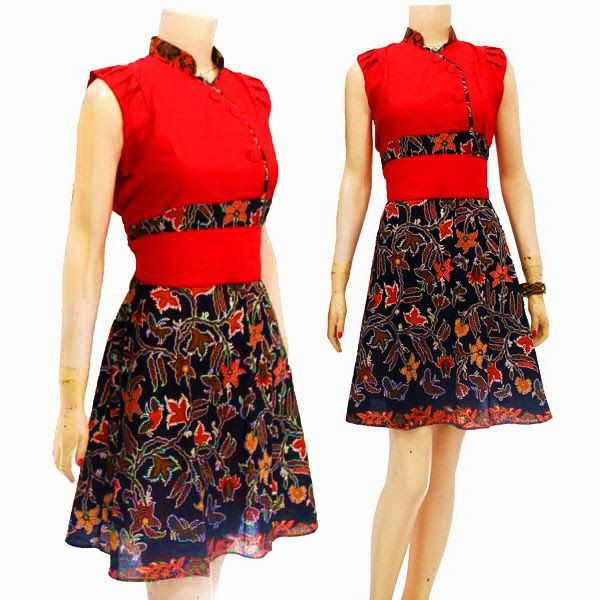 Dress Batik Modern Solo KODE : DB 3635