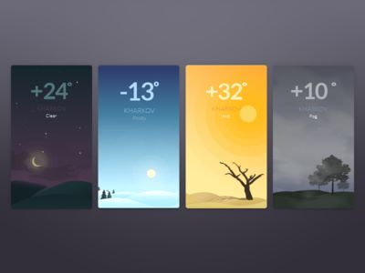Weather app illustration