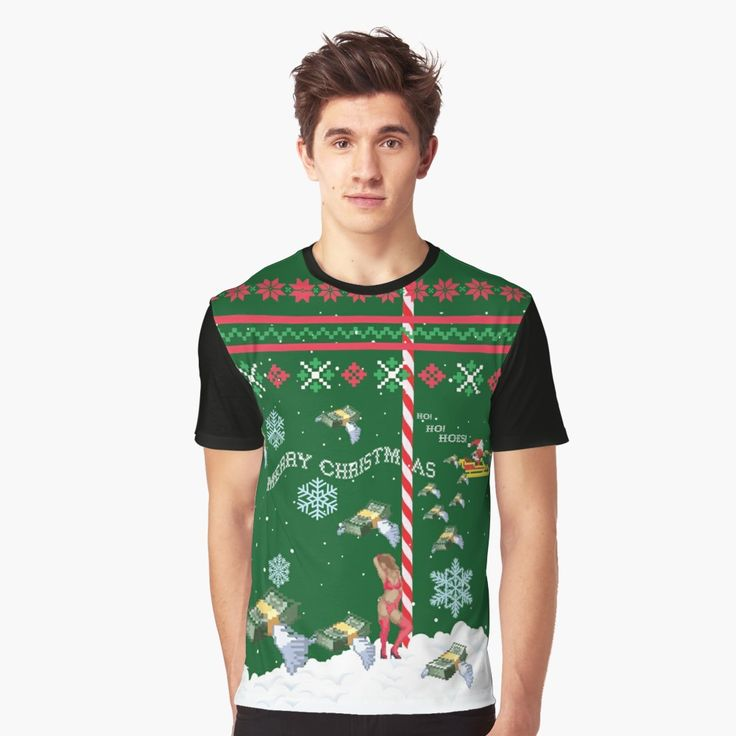Merry Christmas Ho Ho Hoes Graphic T-Shirt Front