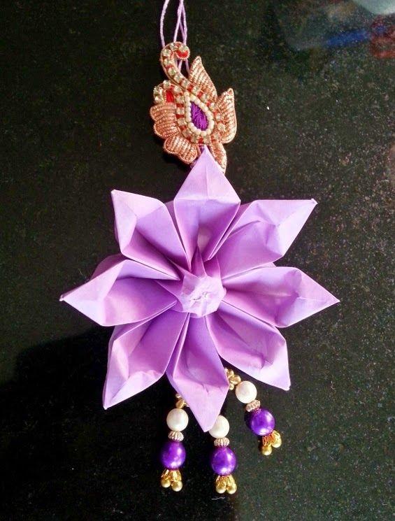 Life's little treasures: Origami decorative rakhi   Origami flower