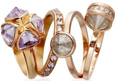 Katie Rowland - Satori & Salome rings (Gold Threads via Astley Clarke)