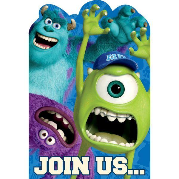 Monsters University Invitations 8ct