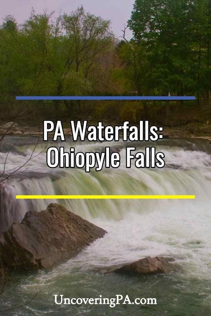 Pennsylvania Waterfalls Caledonia Falls in Franklin County