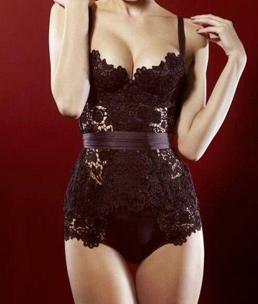 underwear bodysuit body bodycon dress body lace bustier black lace bustier black lace shirt black black corset black bodysuit