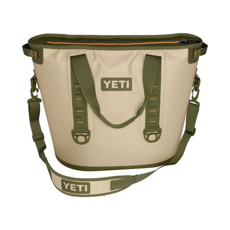 Authentic Yeti Hopper 30 Cooler Tan Blaze Orange 100% Leakproof Tough NEW!
