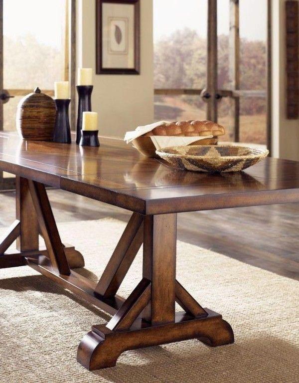 Classic pine trestle table