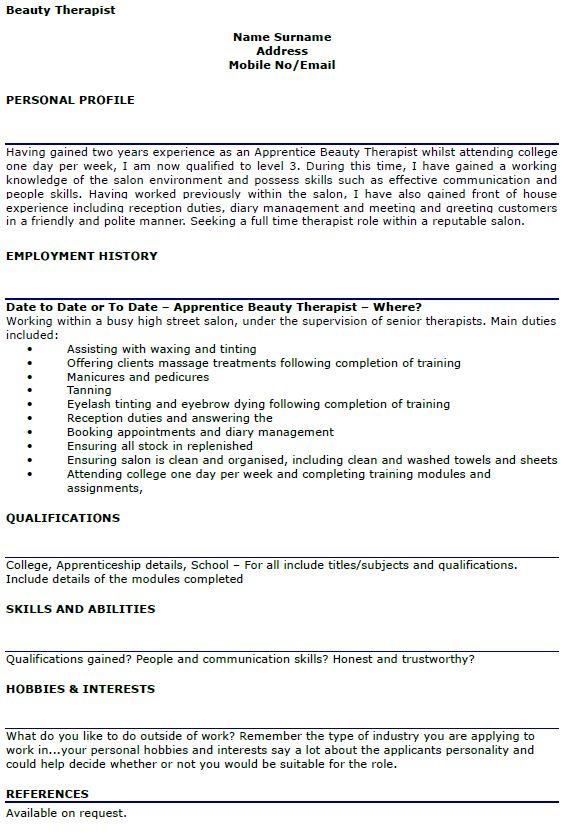 cv template therapist  sample resume good customer