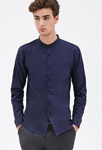 Mandarin Collar Shirt | 21 MEN - 2052289792