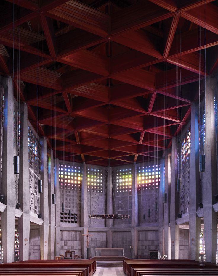 Fotografia: Igrejas Modernas de Meados do Século por Fabrice Fouillet