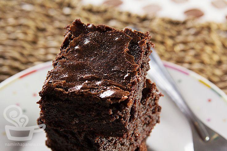 Receita fácild e brownie com toque de café e canela do Naminhapanela.com | receitas e Gastronomia