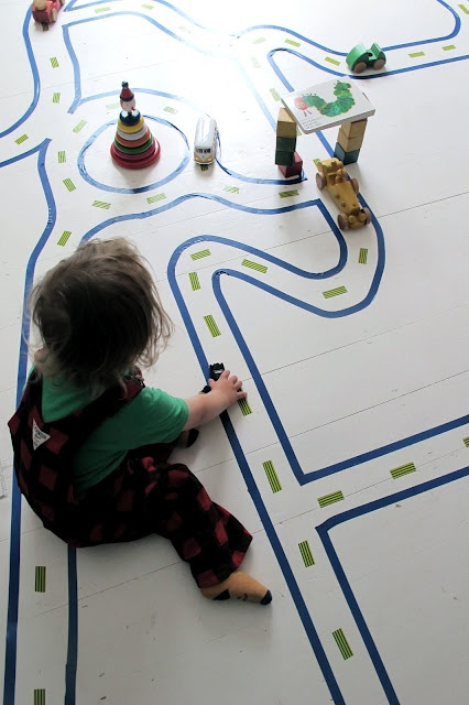 Give your kids' rooms a little bit of fun flair with this DIY road map!