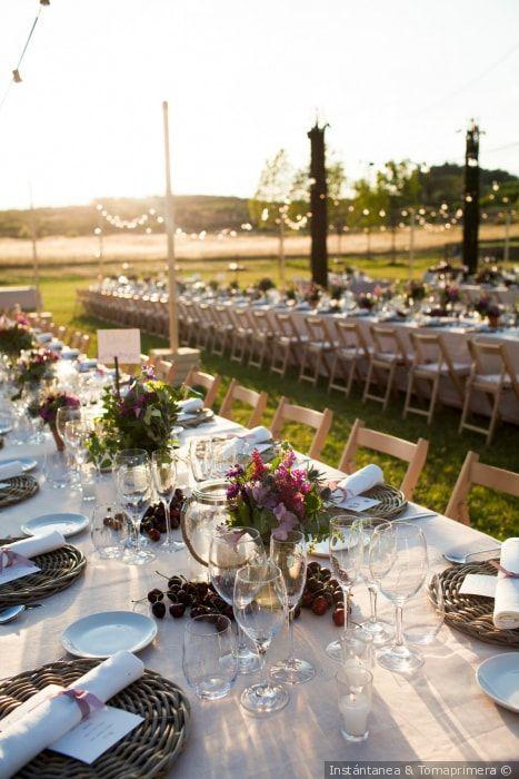 7 buenas ideas para organizar tu boda al aire libre | decoración