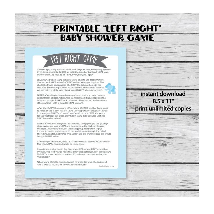 Printable baby shower games, water bottle labels, favor tags and more!