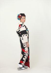 If modern antenna band and kimono -. Modern lamp pattern fine pattern kimono Mail order site of kimono and obi.