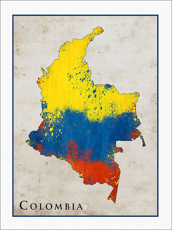 Colombia Flag Map, Colombia, Map of Colombia,
