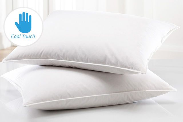 Cotton Duck Feather and Down Pillow