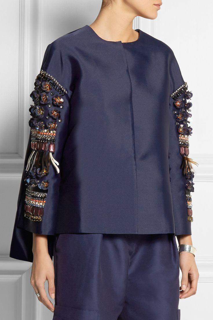 Biyan | Kimbra embellished shantung jacket | NET-A-PORTER.COM