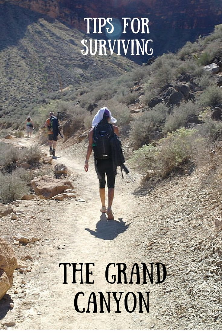 Tips for surviving the Grand Canyon. The Angel Bright Trail can be a tough hike but you can do it with the right food and gear!
