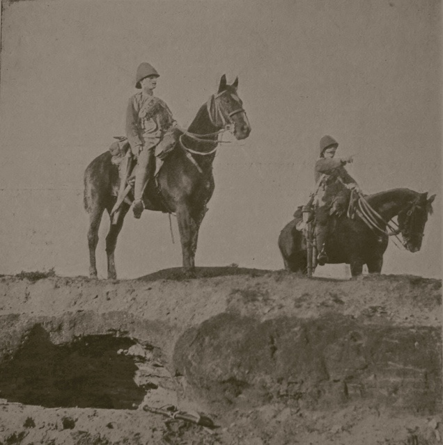Boer War Hussar Scouts: These images come from a lavishly illustrated book published by H. Virtue and Co in 1900 which is a summary of the progress of the Boer War while it was still being fought.