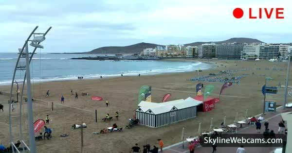 Las Canteras, view of Playa Grande in the Canary Islands