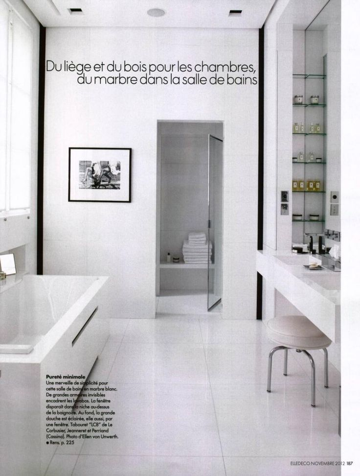 Elle decoration france lc8 design le corbusier jeanneret perriand bath - Decoration le corbusier ...